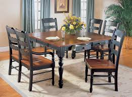 Distressed Black Dining Table Hand Distressed Black U0026 Antique Cherry Dinette Table W Options