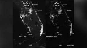 Florida Power And Light Outage Map by Satellite Photos Show Florida Power Outages From Space Due To Irma