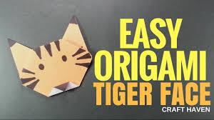 easy origami tiger instructions for kids origami voor kinderen