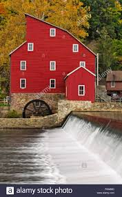 clinton house nj historic landmark of the red mill at clinton new jersey during a