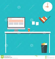 home design desktop home office flat design vector illustration of modern home office