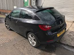seat ibiza 2011 1 4 sport coupe black damaged bargain in