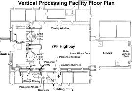facility floor plan nasa ksc launch site support office floor plan of vpf