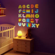 Alphabet Wall Decals For Nursery by Cartoon Wall Decals Nursery Baby Room 26 English Letters