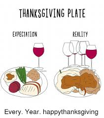 thanksgiving plate expectation reality every year