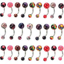 ball belly rings images 1pc fashion sexy navel belly button ring barbell acrylic ball jpg