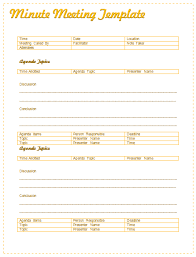meeting minutes sample at document templates
