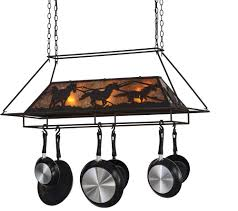 oil rubbed bronze pot rack with lights meyda tiffany 153181 wild horses rustic oil rubbed bronze amber