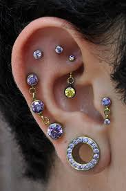 strange earrings 18 ear piercings and gauges smosh