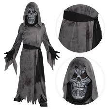 darth vader halloween costume teen boys ghastly ghoul ghost halloween mask robe scythe fancy
