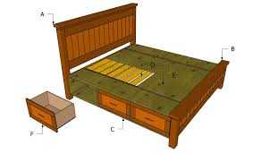 bedroom stunning pdf diy queen size storage bed frame plans