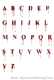 deviantart more like stock font 1 blood by raven tattoo