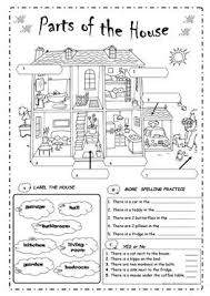 72 free esl parts of the house worksheets