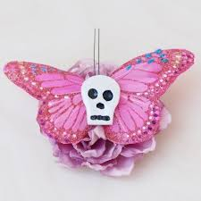 butterfly hair how to make a skull butterfly hair clip