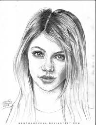 beautiful sketches of girls beautiful girls face sketch drawing