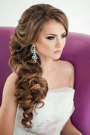 prom hairstyles side curls awesome side curls wedding hairstyles ideas styles ideas 2018