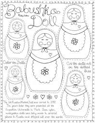 russian nesting doll coloring pages printable education