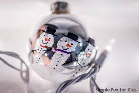 handprint snowmen ornaments simple for