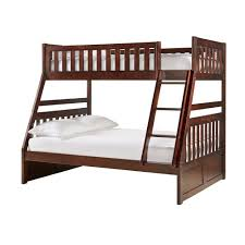 Wooden Bunk Beds With Trundle Traditional Cherry Wood Bunk Bed And Trundle By