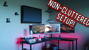 gaming office setup how to have a clean look to your gaming office setup youtube