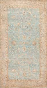 Turquoise Persian Rug Antique Large Blue Persian Kerman Carpet