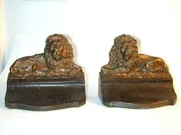 lion bookends a pair an antique lion bookends by bradley hubbard circa 1900