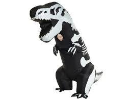 Kids Godzilla Halloween Costumes Skeleton Rex Dinosaur Inflatable Jurassic Park Costume