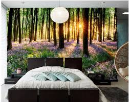 3d wallpaper custom photo sunny woods lavender landscape room 3d wallpaper custom photo sunny woods lavender landscape room decoration painting picture 3d wall murals wallpaper for walls 3 d in wallpapers from home