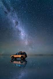 see the night sky over bolivia u0027s salt flats