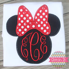 minnie mouse monogram traditional minnie mouse monogrammed shirt by stitchitboutique