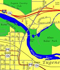 map of oregon eugene coburg road eugene aaroads oregon
