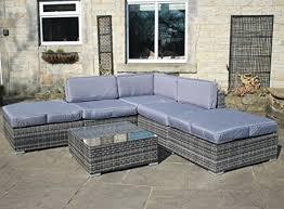 Grey Rattan Outdoor Furniture by Grey Rattan Outdoor Furniture Amazon Co Uk