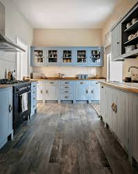 what color floor with blue cabinets warm interiors kitchen with blue cabinets search