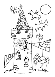tower coloring page for kids printable free halloween