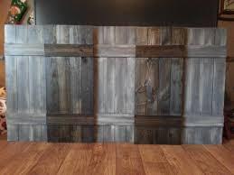 Wooden Interior King Headboard Wood Shutter Set Rustic Wooden Headboard Shutters