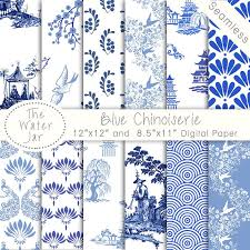china designs chinoiserie wallpaper china blue digital paper pack commercial use