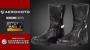 waterproof motorcycle boots aeromoto renegade waterproof motorcycle boots review youtube