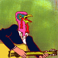 turkey on guitar