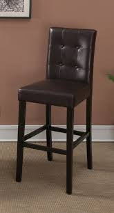 Leather Bar Stools With Back Amazon Com Dark Brown Leather Bar Stools Set Of 2 Tufted Parson