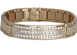rolex bracelet diamonds images 18k yellow gold gents triple row rolex style diamond bracelet jpg