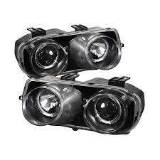 amazon com spyder auto acura integra black halogen projector