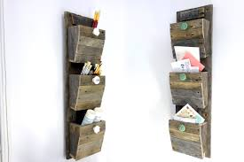 3 wood wall personalized mail organizer reclaimed wood wall hanging