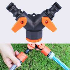 Toch Garden Hose Splitter 2 Way Y Valve Garden Hose Shut Off Valve 2 Way Garden Hose Splitter Tap Connector Y Adaptor Two Outlet