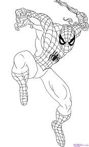 draw spiderman step step marvel characters draw