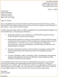 administrative cover letter administrative cover letter for