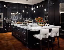Kitchen With Black Cabinets Elegant Kitchen Design With Black Cabinets Marble Countertop