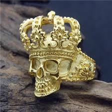 king gold rings images Size 8 14 new design stainless steel fashion cool golden king jpg