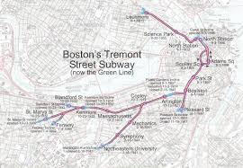 Boston Mbta Map Boston U0027s Green Line Subway Turns 115 O Gauge Railroading On Line