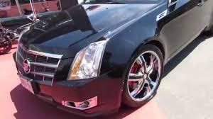 custom 2009 cadillac cts 2008 cadillac cts 4 with 20 inch custom chrome rims with black