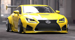 lexus rc f body kits rocket bunny rcf yellow f rocket bunny pinterest